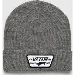 Vans - Czapka. Szare czapki zimowe męskie marki Vans, z dzianiny. W wyprzedaży za 84,90 zł.