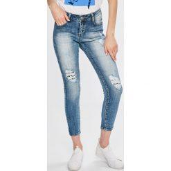 Answear - Jeansy Boho Bandit. Szare jeansy damskie rurki marki ANSWEAR, l, z poliesteru, z długim rękawem, długie. W wyprzedaży za 69,90 zł.