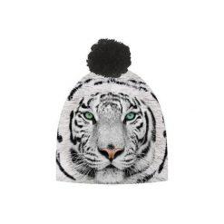 Czapka hauer TIGER WHITE. Czarne czapki zimowe damskie marki Hauer, z nadrukiem, z polaru. Za 69,00 zł.