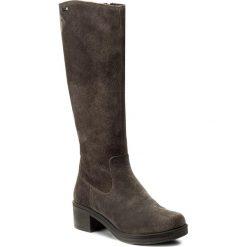 Kozaki LASOCKI - EGIA-02W Szary Ciemny. Szare buty zimowe damskie Lasocki, ze skóry, przed kolano, na wysokim obcasie, na obcasie. W wyprzedaży za 209,99 zł.