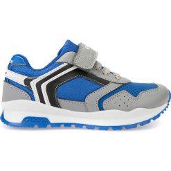 """Sneakersy """"Cordian"""" w kolorze szaro-niebieskim. Niebieskie trampki chłopięce marki geox kids, z gumy. W wyprzedaży za 129,95 zł."""