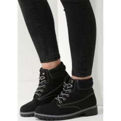 Czarno-Szare Traperki Loved Enough. Czarne buty zimowe damskie marki vices, z materiału, z okrągłym noskiem, na obcasie. Za 129,99 zł.