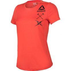 Reebok Koszulka damska treningowa Activchill Graphic Tee W pomarańczowa r. XS (B45060). Topy sportowe damskie Reebok, xs. Za 120,49 zł.