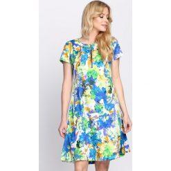Niebiesko-Zielona Sukienka Liquorice. Zielone sukienki letnie marki Reserved, z wiskozy. Za 59,99 zł.