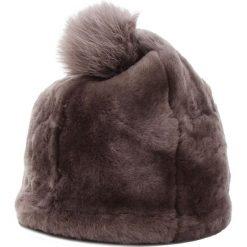 Czapka UGG - W Solid Sheepskin Beanie 17383 Stormy Grey. Szare czapki zimowe damskie Ugg, z materiału. Za 639,00 zł.