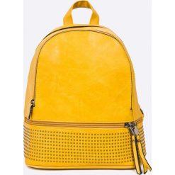 Answear - Plecak. Pomarańczowe plecaki damskie ANSWEAR, z materiału. W wyprzedaży za 89,90 zł.