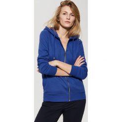 Bluza z kapturem - Niebieski. Czarne bluzy męskie rozpinane marki House, l, z nadrukiem. Za 89,99 zł.