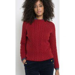 Sweter ze splotu warkoczowego. Brązowe golfy damskie La Redoute Collections, z wełny. Za 173,21 zł.