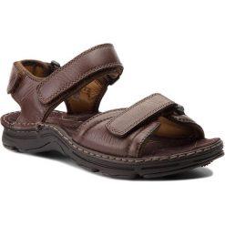 Sandały męskie skórzane: Sandały CLARKS – Atl Part 203531967 Dark Brown Lea