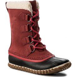 Śniegowce SOREL - Cariboi Slim NL2649 Red Element 611. Czerwone buty zimowe damskie Sorel, z gumy. W wyprzedaży za 339,00 zł.