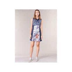 Sukienki krótkie Smash  JOHANNA. Niebieskie sukienki mini marki Smash, xl, z krótkim rękawem. Za 199,20 zł.