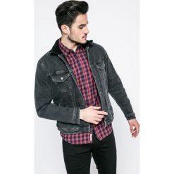 Jack & Jones - Kurtka. Czarne kurtki męskie przejściowe marki Jack & Jones, l, z bawełny, z okrągłym kołnierzem. W wyprzedaży za 269,90 zł.