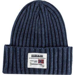 Czapka NAPAPIJRI - N0YGSF176 Blu Marine. Niebieskie czapki damskie marki Napapijri, z bawełny. W wyprzedaży za 199,00 zł.