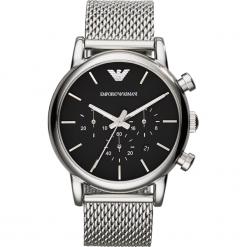 Zegarek EMPORIO ARMANI - Luigi AR1811 Silver/Steel/Silver/Steel. Szare zegarki męskie marki Emporio Armani, l, z nadrukiem, z bawełny, z okrągłym kołnierzem. Za 1269,00 zł.