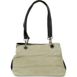 """Torebki klasyczne damskie: Skórzana torebka """"Giselle"""" w kolorze beżowym – 30 x 20 x 12 cm"""