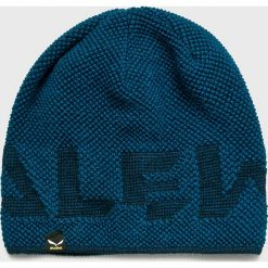 Salewa - Czapka. Niebieskie czapki zimowe męskie Salewa, z dzianiny. W wyprzedaży za 99,90 zł.