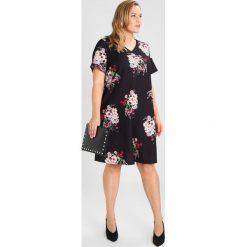 Sukienki hiszpanki: Dorothy Perkins Curve SPACED FLORAL SHIFT Sukienka z dżerseju black
