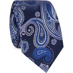 Krawat KWGR001754. Szare krawaty męskie Giacomo Conti, paisley, z mikrofibry, eleganckie. Za 69,00 zł.