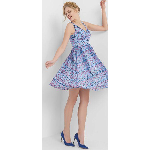 ee3086adbe Rozkloszowana sukienka w kwiaty - Sukienki damskie Orsay