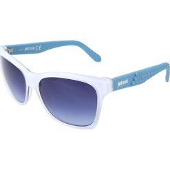 """Okulary przeciwsłoneczne damskie aviatory: Okulary przeciwsłoneczne """"JC649S 21W"""" w kolorze biało-niebieskim"""