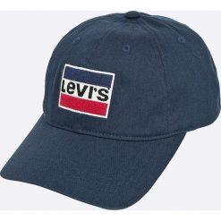 Levi's - Czapka. Brązowe czapki z daszkiem męskie Levi's®, z bawełny. Za 149,90 zł.