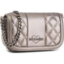 Torebka LOVE MOSCHINO - JC4013PP16LB0910  Peltr. Szare torebki klasyczne damskie marki Love Moschino, ze skóry ekologicznej. W wyprzedaży za 499,00 zł.