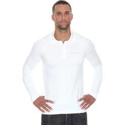 Brubeck Koszulka męska polo Prestige z długim rękawem biała r. M (LS10620). Białe koszulki polo marki Brubeck, m, z długim rękawem. Za 215,89 zł.