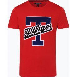 Tommy Hilfiger - T-shirt męski, czerwony. Szare t-shirty męskie z nadrukiem marki TOMMY HILFIGER, z bawełny. Za 179,95 zł.