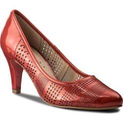 Półbuty CAPRICE - 9-22502-20 Red Patent 505. Czerwone półbuty damskie skórzane Caprice, na obcasie. W wyprzedaży za 219,00 zł.
