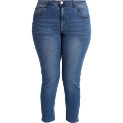 Lost Ink Plus RELAXED SKINNY IN CHIA Jeansy Slim Fit mid blue. Niebieskie jeansy damskie marki Lost Ink Plus. Za 189,00 zł.