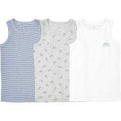 Podkoszulek bez rękawów 2-12 lat (zestaw 3 szt.). Niebieskie t-shirty chłopięce z nadrukiem La Redoute Collections, z dzianiny, bez rękawów. Za 49,94 zł.