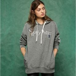 Bluza Harry Potter - Szary. Białe bluzy damskie marki Sinsay, l, z napisami. Za 79,99 zł.