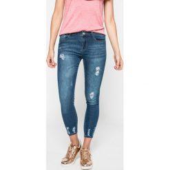 Answear - Jeansy Blossom Mood. Niebieskie jeansy damskie rurki marki ANSWEAR, z bawełny. W wyprzedaży za 89,90 zł.