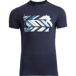 T-shirt męski TSM612 - granatowy - Outhorn. Niebieskie t-shirty męskie marki Outhorn, na lato, m, z bawełny. W wyprzedaży za 29,99 zł.