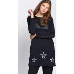 Bluzki, topy, tuniki: Granatowa Tunika Ambition Fashion