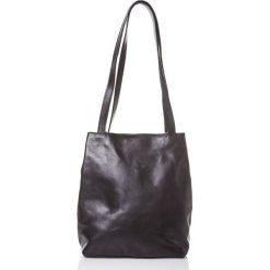 Torebki klasyczne damskie: Skórzana torebka w kolorze czarnym - 31 x 35 x 10 cm