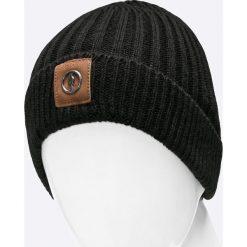 Ochnik - Czapka. Czarne czapki męskie Ochnik, na zimę, z dzianiny. W wyprzedaży za 69,90 zł.