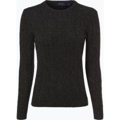 Polo Ralph Lauren - Sweter damski z mieszanki wełny merino i kaszmiru, szary. Szare swetry klasyczne damskie Polo Ralph Lauren, l, z kaszmiru, z klasycznym kołnierzykiem. Za 659,95 zł.