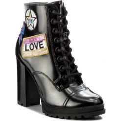 Botki ALDO - Glitterati 51983908 96. Czarne buty zimowe damskie ALDO, z materiału. W wyprzedaży za 279,00 zł.