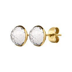 Kolczyki damskie: Kolczyki w kolorze złotym z kryształem Swarovski