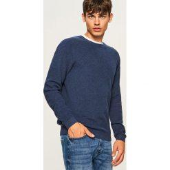 Sweter - Granatowy. Niebieskie swetry klasyczne męskie marki Reserved, l. Za 99,99 zł.