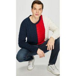 Tommy Jeans - Sweter. Szare swetry klasyczne męskie Tommy Jeans, l, z jeansu. Za 359,90 zł.