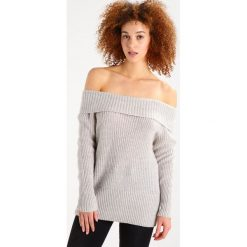 Swetry damskie: Vila VIMATCHIE OFFSHOULDER Sweter super light grey melange