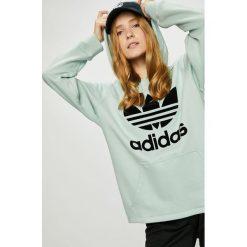 Adidas Originals - Bluza. Szare bluzy rozpinane damskie adidas Originals, z nadrukiem, z bawełny, z kapturem. W wyprzedaży za 259,90 zł.