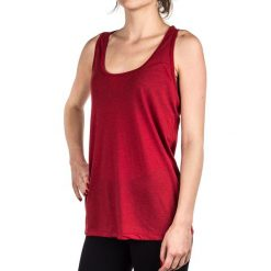 Bluzki asymetryczne: Nike Koszulka damska Top Flow Tank Nike czerwona r. M (530980695)