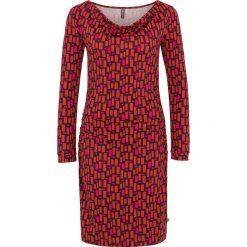 """Sukienki hiszpanki: Sukienka """"Ece"""" w kolorze różowo-czerwonym"""