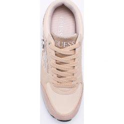 Guess Jeans - Buty. Szare buty sportowe damskie Guess Jeans, z aplikacjami, z jeansu. W wyprzedaży za 359,90 zł.
