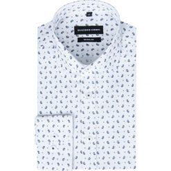 Koszula SIMONE KDBR000249. Białe koszule męskie na spinki Giacomo Conti, m, z bawełny, z włoskim kołnierzykiem. Za 169,00 zł.