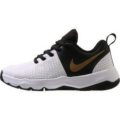 Buty sportowe męskie: Nike Performance TEAM HUSTLE QUICK Obuwie do koszykówki black/metallic gold/white