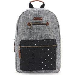 Plecaki męskie: Plecak w kolorze szaro-czarnym – 30 x 41 x 13 cm